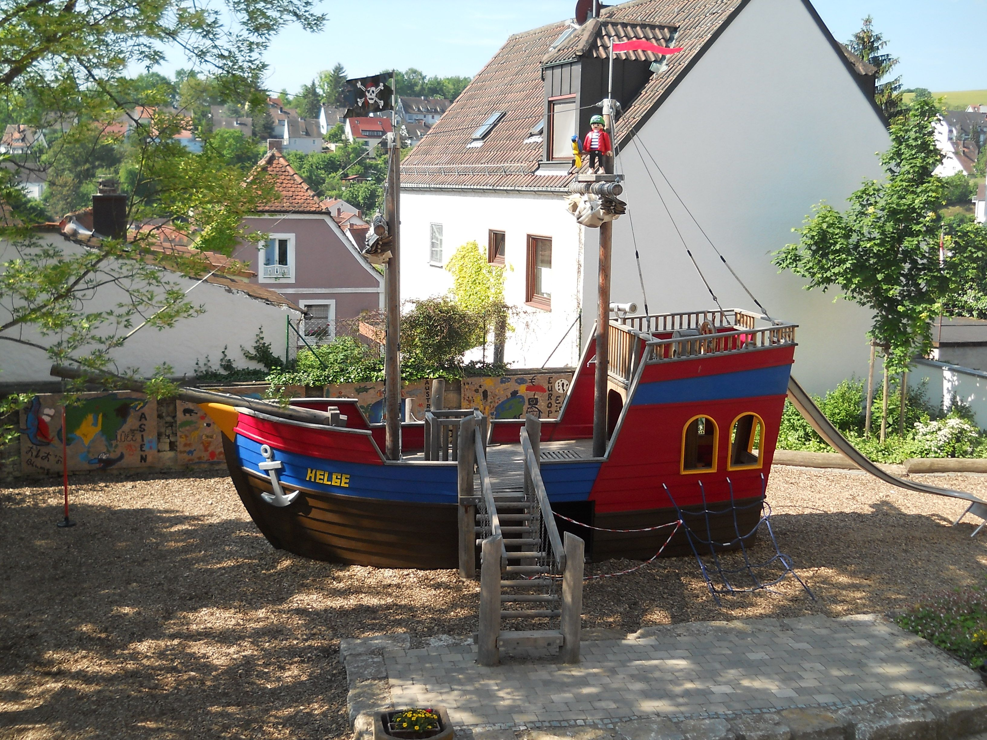 kindergarten piratenschiff